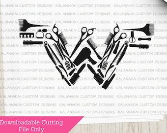 Hairdresser SVG - Hairdresser Cutting File - Beautician SVG - Hairdresser Wonderwoman SVG - Digital Download -