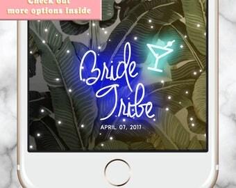 Bridal Shower Filter Snapchat Geofilter Bachelorette, Bachelorette Weekend, bridesmaid gift, Snapchat Geofilter Hens, Neon Snapchat Filter