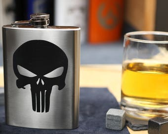 Punisher - Stainless Steel Hip Flask