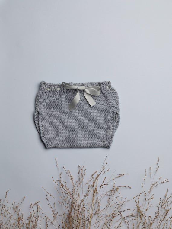 bloomers baby, baby bloomers, baby, baby, baby handmade panties gift gifts, grey CARLOTTA bloomer knitting workshop me