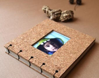 Photo album / Album cork / Photo album / Custom album / Handmade album / Handmade cork album / Binding / Coptic binding / Coptic stich
