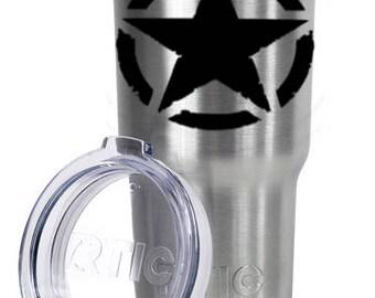 Rustic Invasion Star Tumbler, 30oz Tumbler, Custom Stainless Tumbler, Gun Gift, 2nd Amendment, Gift For Him