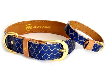 "Dog collar with a matching friendship bracelet set / The ""Gentleman"" Collar"