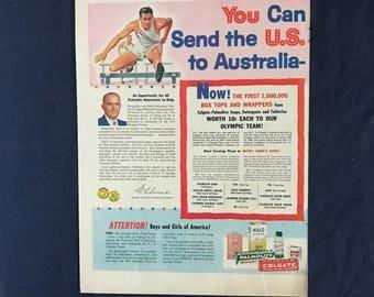 Vintage Colgate Ad, You Can Send the U.S. to Australia