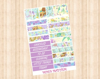 Mermaid Queen Banners & Flags // Happy Planner // Erin Condren //Personal