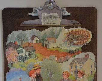 Anne of Green Gables decoupaged Clipboard