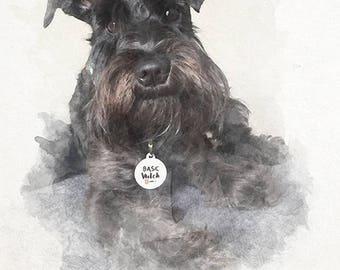 Custom Watercolor Pet Portrait From Photograph, Custom pet portrait, cat portrait, dog portrait, cat lover gift, dog lover gift, pet lover