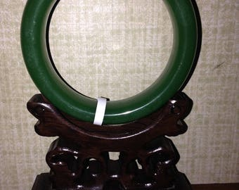 Apple or Silky Green 62mm or 63mm or 64mm Jadeite Jade Bangle