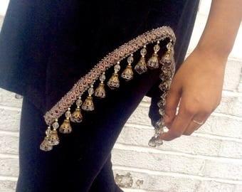 Black Top with crystal trim