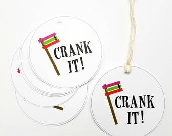 Crank It Grogger Gift Tags For Purim