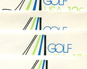 Golf Embossed Envelopes Issued in 1977