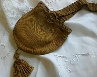 UNUSUAL SILK CROCHET 1920S/30S Bag