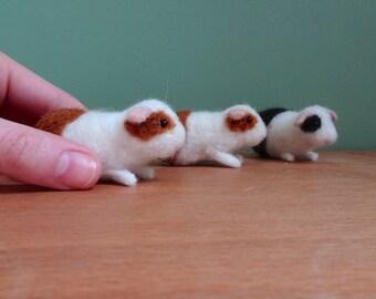 guinea pig, felted guinea pig, guinea pig ornament, felted animals, mini guinea pigs, needle felted, custom pet portrait, cute gift