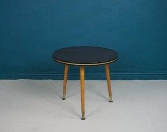 Mid Century Slate Top Side Table