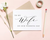 To my wife on our wedding day card, To my wifey on our wedding day card, to my wife card, wedding day card / SKU: LNWD06