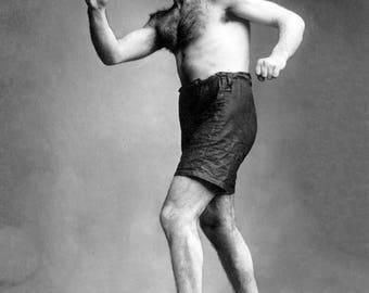 """1910-1915 Boxer Matt Wells Vintage Photograph 8.5"""" x 11"""" Reprint"""