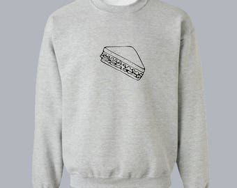 Sandwich Sweatshirt Food Sweatshirt Unisex Sweatshirt Unisex Sweater Sweater for Women Sweatshirt Women Sweatshirt Men Gift for Him for Her