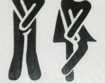 Mr/Mrs toilet decal