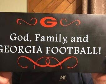 Georgia Bulldogs Wood Sign, UGA Football Decor, Bulldogs Fan Gift, SEC  Championship,