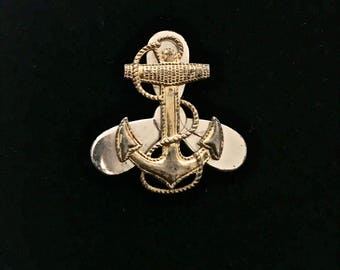 Sterling Silver Navy Pin