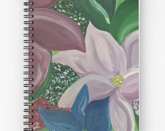 "Floral Original ""Lilies Dancing"" Hardcover/Spiral Journal"