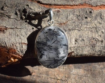 rutilated quartz pendant,rutilated gemstone pendant,925 silver pendant,rutilatd quartz necklace,gemstone pendant