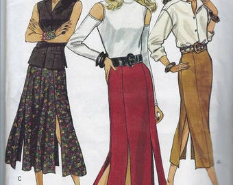Vintage Very Easy Very Vogue Sewing Pattern 8672  Straight Flared Skirt  Size 6 8 10  Uncut Factory Folded