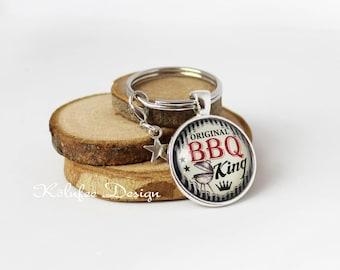 BBQ King key ring, BBQ keychain, BBQ, BBQ, gift for father, brother, Grandpa, friend, Grillfan, present, GIF