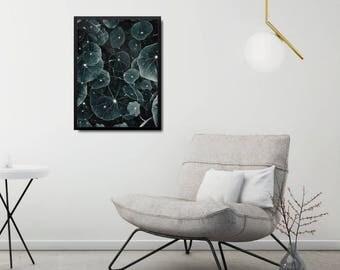 Modern Green Print, Modern Leaf Photo Decor, Minimalist Leaf Art Print, Nature Inspired Poster, Modern Floral Poster, Nature Inspired Poster