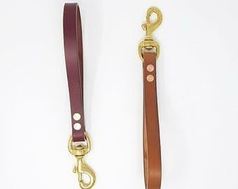 Leather Short/Traffic Dog Lead - 12''