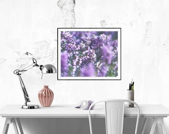Purple wall art Digital download floral art Purple art Violet wall decor Wall art for living room Decor Printable purple picture Flower arts
