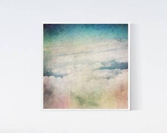 Pastel wall decor, Light pink blue wall art, Clouds picture, Printable arts pastel, Square art living room, Bedroom decors, Heaven 12x12 art