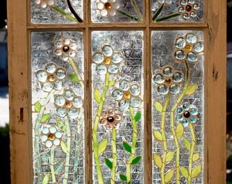 Glass Art, Glass Mosaic, Window Art, Window Mosaic,