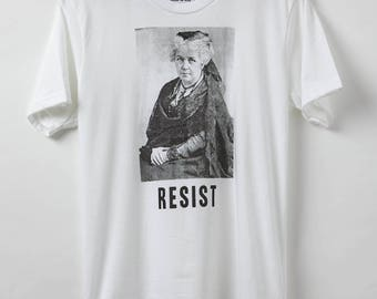 Resist Shirt - Suffragette Elizabeth Cady Stanton Resist - Men's T-Shirt - Made in USA