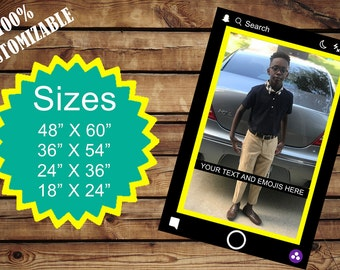 Customized Snapchat photo frame prop!