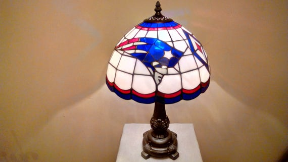 Official New England Patriots Tiffany Style Stained Glass Lamp