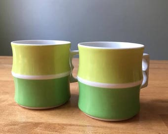 German Retro/Mod Cups (Set of 2)