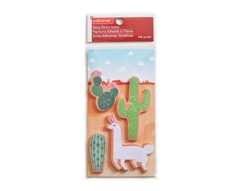 Sticky Notes for Planners and Scrapbooking - Llamas / Cacti / Succulents