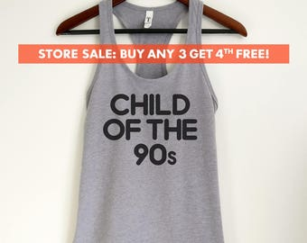 Child Of The 90s Tank Top, Funny ladies tank top, Ladies Workout Tank Top, Gym Tank Top, Yoga Tank