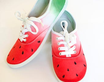 Custom Made Dip -Dyed Watermelon Sneaker