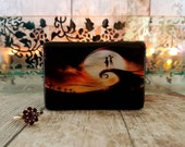 Nightmare Before Christmas Inspired Double Ring Box - Wedding Ring Box - Halloween Wedding - Christmas Wedding