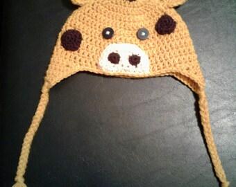 Baby crochet  giraffe hat