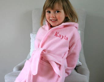 Personalised Child's Dressing Gown In Pink