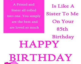 Friend like a Sister 85 with removable laminate