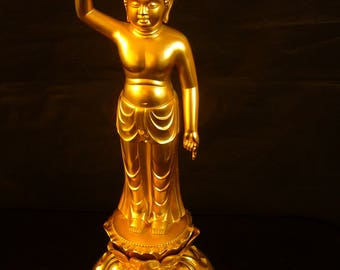 Infant Buddha Statue 1930s - Very rare - Signed by the Artist.