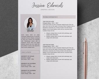 Modern Resume Template, CV Format Template Word, Modern Resume Design, Professional CV Template, Resume with Photo, Resume Instant Download
