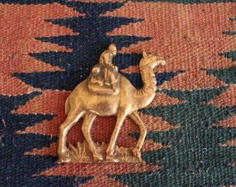 Brass Knight Riding a Camel