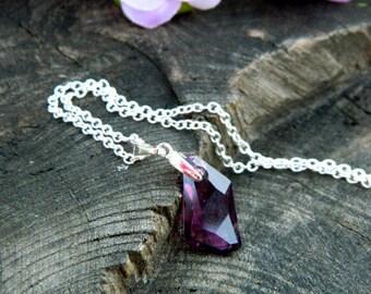 Girlfriend gift Choker Necklace Bohemian jewelry Ultra Violet Gift Celestial Jewelry Crystal choker Amethyst  Necklace Mommy Wanderlust gift