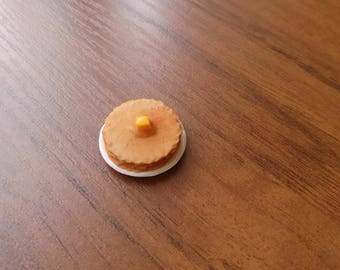 Miniature pancakes, pancakes with butter, miniature food, dollhouse, 1:12