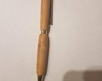 Handmade wood pen black ink